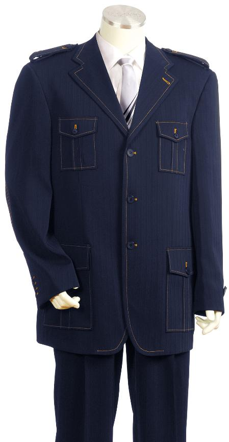 Luxurious Three buttons Navy