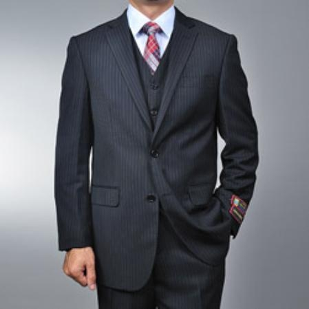 color black Pinstripe 2-button