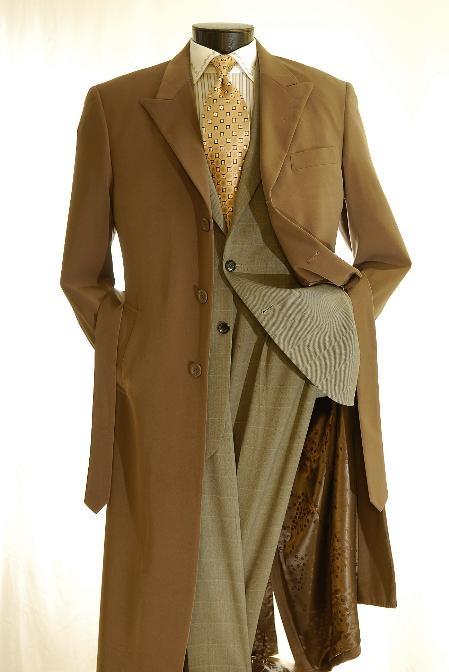 Wool Blend Overcoat/Topcoat Chocolate Brown