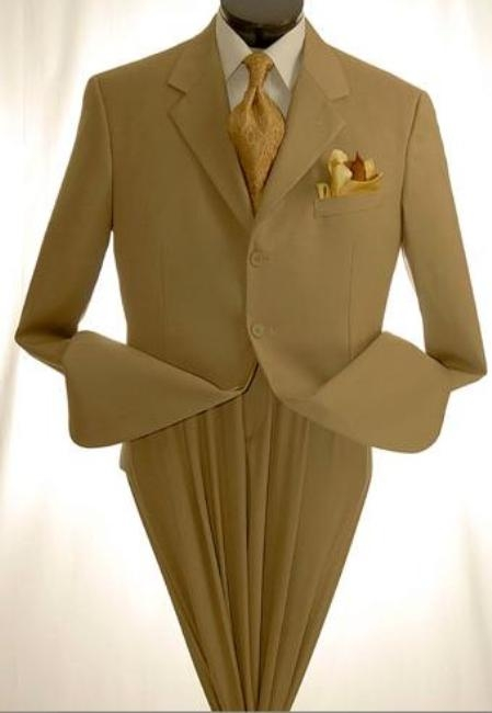 3 button Khaki/Tan/Beige Mens Suit under 100 discount mens suits cheap sale