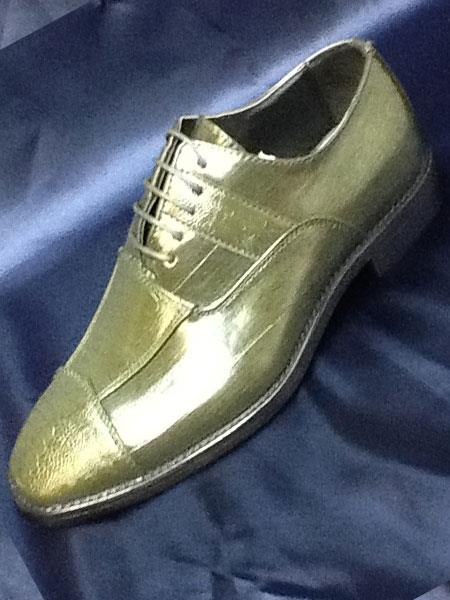 Green Two Tone Shoes Olive Dress Shoes For Men