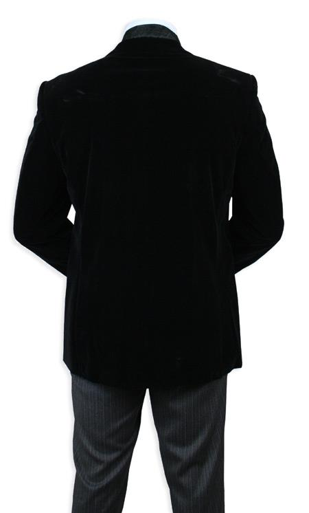 351941b039d Velvet Smoking Jacket Dark color black