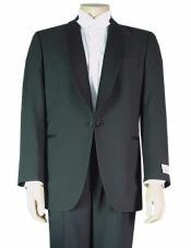Single Buttons Shawl Collar