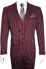 Button Vested Suit Bold