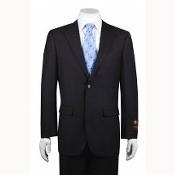ID#FS8787 2-button Basic Solid Plain Dark Charcoal Masculine color Cheap Priced Fitted Tapered cut Suit