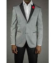 buttons Gray Tuxedo Silver