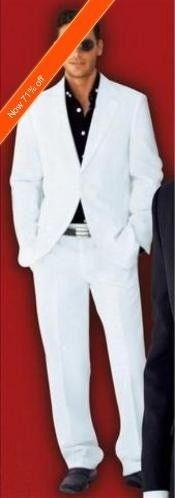 White Suit 2-Button White