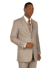 buttons Vested Taupe