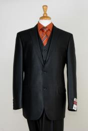 Piece Sharkskin Suit Flat