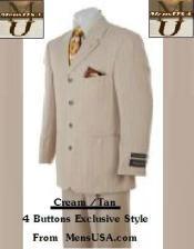 Four buttons Cream /