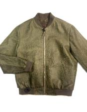 Collar Zipper Closure Leather
