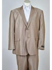 Beige Color Two Buttons suit