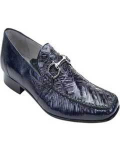 Belvedere Navy Genuine crocodile