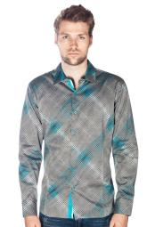 Teal Long Sleeve Button