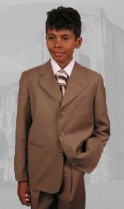 Bronze Boys Dress Suit