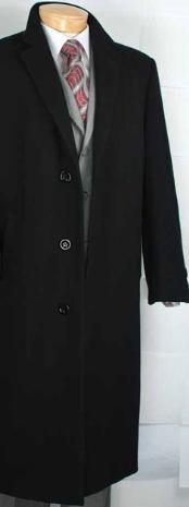 ID#MR2940 Dark color black Cashmere Blended Top Coat