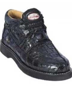 ID#KA1521 Dark color black Genuine All-Over crocodile skin ~ Gator skin trendy informal casual Cheap Priced Exotic Skin Formal Shoes For Men For Sale