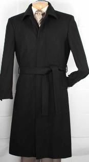 fabric Blended Belted overcoats