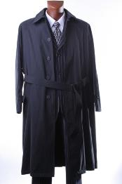 color black Overcoat Ankle