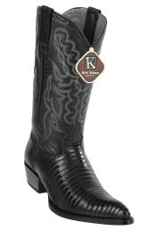 ID#DB17221 Black Western J Toe Style King Exotic Formal Shoes For Men Teju Lizard Dress Cowboy Boot Cheap Priced For Sale Online