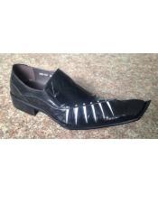 Insole Black Leather Slip