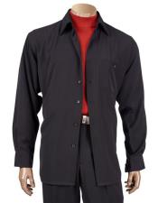 Button Black Long Sleeve