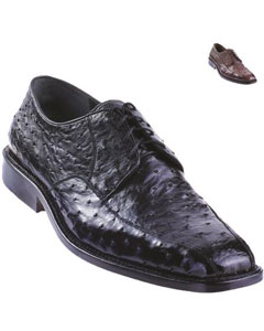 Ostrich Oxford Shoe Dark