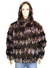 Zipper Black/Pink Fur Black