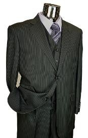 color black Pinstripe 3pc