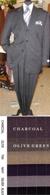 Button Sharp Pinstripe Superior