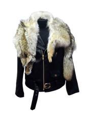 Raccoon/Lambskin Zipper Closure Flap