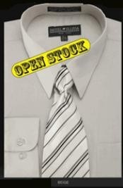 Basic Cheap Fashion Clearance Shirt Sale Online For Men with Matching Tie and Hanky