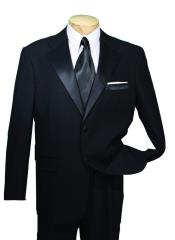 ID#AVE33 Dark color black Year Round Tuxedo Big and Tall Large Man ~ Plus Size Extra Long length sizes Available Two buttons Collection