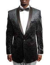 ID#DB18276 100% Wool Tuxedo Black Velvet Fashion Jacket with Satin Shawl Lapel Best Cheap Blazer For Affordable Cheap Priced Unique Fancy For Men Available Big Sizes on sale Men Affordable Sport Coats Sale