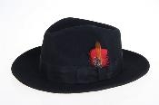 fabric Felt Fedora Dark
