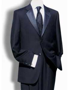 ID#ML6475 Pleated creased Pants (Regular Fit Jacket) Dark color black Two buttons Superior fabric 150's Wool fabric Tuxedo Signature Platinum Stays Cool Cheap Reduced Price
