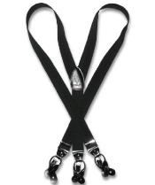 color black Groomsmen Suspenders