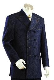 ID#IO4455 Long length Zoot Suit in Blue Color