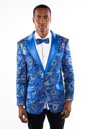 Tuxedo Blue Shiny Sequin