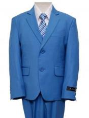 ID#RBL0172  Boy's kids suits available in little boys 3 three piece suit Royal Light Blue Perfect for wedding
