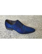 Blue Texture Pattern Lace