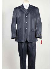 Blue Three Buttons Suit