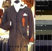 visible White Pinstripe Vested