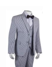 ID#DB22294 Notch Lapel Black Stripe ~ Pinstripe Boys ~ Children ~ Kids kids suits available in little boys 3 three piece suit