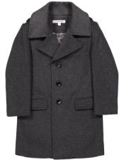 Collar Dark Charcoal Coat