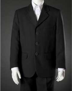 ID#KA7856 Children Kids Boys Dark color black HULight Blue 2 Piece Toddler suits