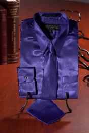 ID#WES131 Children Kids Boys Purple pastel color Satin Dress Shirt Combo