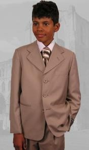 Boys Tan Suit