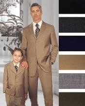 ID# GTD438 1 + 1 Boy MATCHING Combo FOR BOTH FATHER AND SON 2 or Three buttons option Wool fabric Toddler Boy kids suits available in little boys 3 three piece suit for Weddings