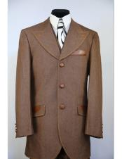 Buttons Wide Peak Lapel